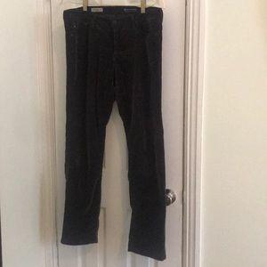 Brown Adriano Goldschmeid strait velvet jeans